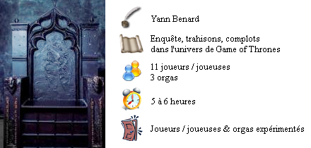 For The Throne (Game of Thrones) Version 11 joueurs